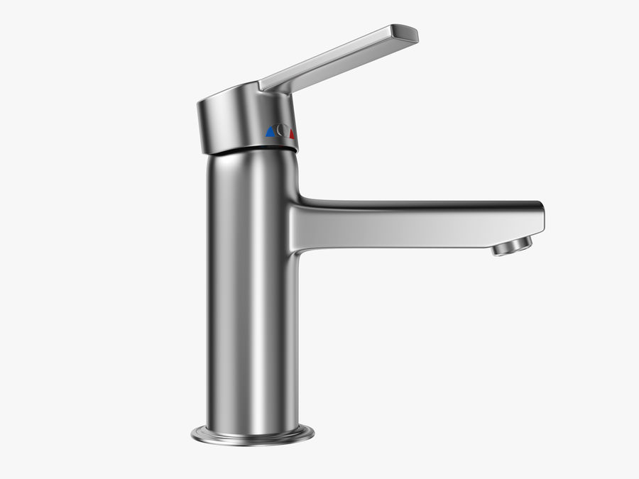 Bathroom Faucet royalty-free 3d model - Preview no. 4