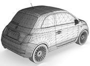 Fiat 500 modelo 3d