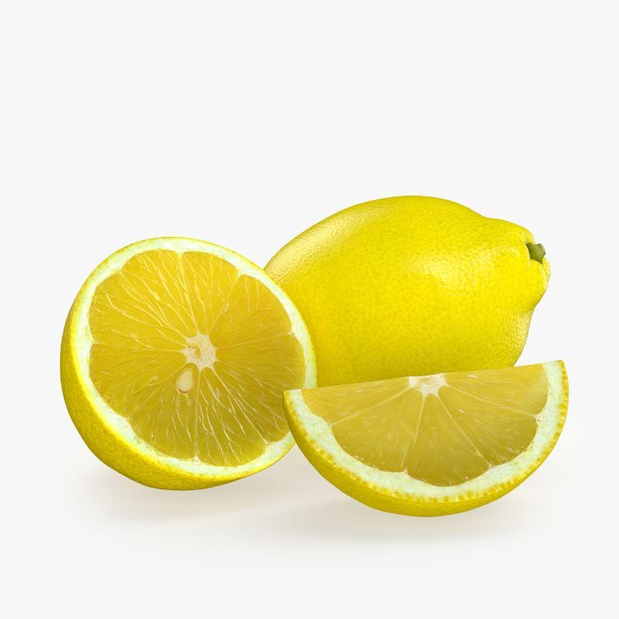 Tipo di frutta al limone 2 royalty-free 3d model - Preview no. 1