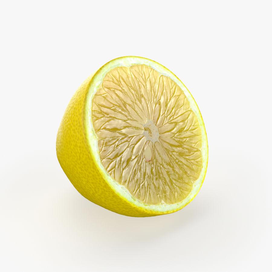 Tipo di frutta al limone 2 royalty-free 3d model - Preview no. 3