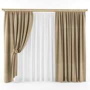Curtains (tulle)blinds333 3d model