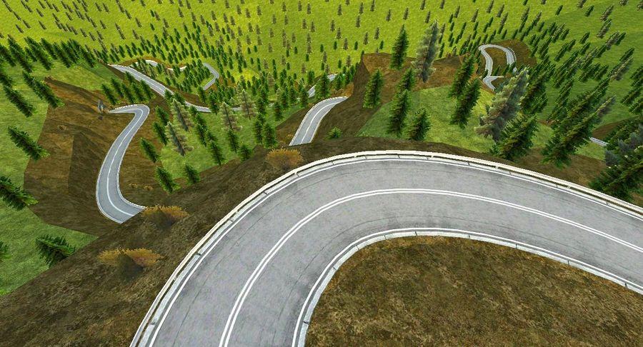 Tepe Yarışı Pisti royalty-free 3d model - Preview no. 13