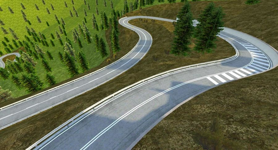 Hill Race Track royalty-free 3d model - Preview no. 16