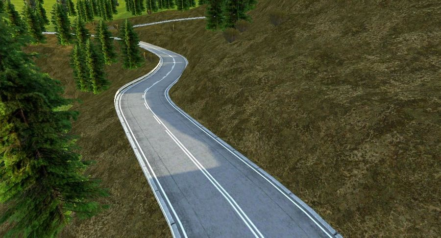 Hill Race Track royalty-free 3d model - Preview no. 9