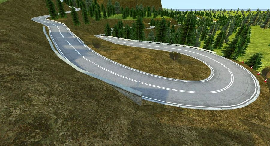 Hill Race Track royalty-free 3d model - Preview no. 8