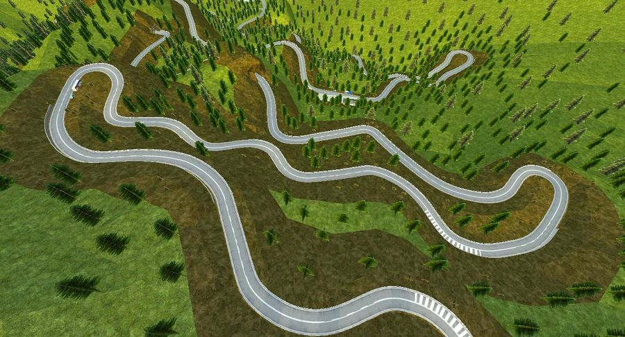 Hill Race Track royalty-free 3d model - Preview no. 21