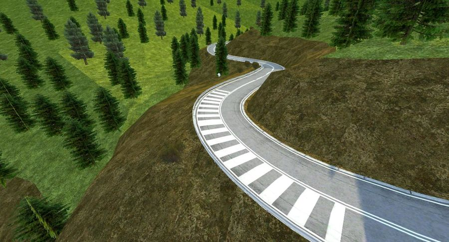 Hill Race Track royalty-free 3d model - Preview no. 14