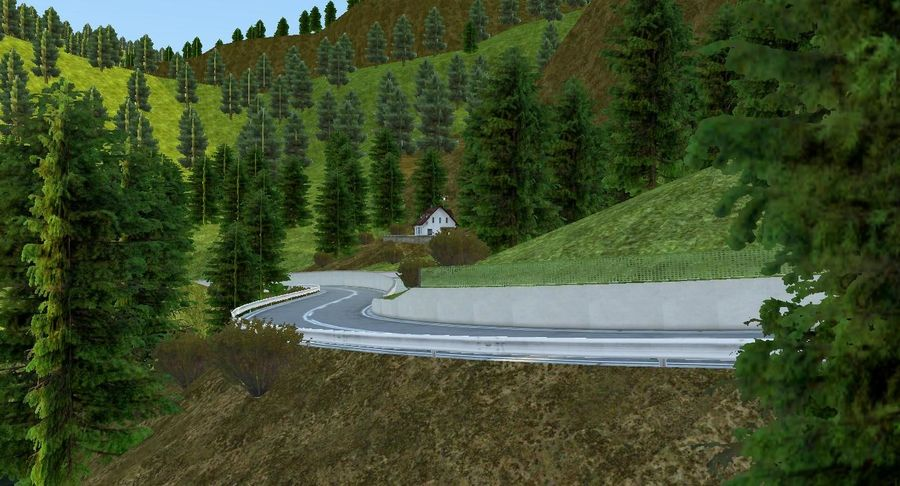 Hill Race Track royalty-free 3d model - Preview no. 19