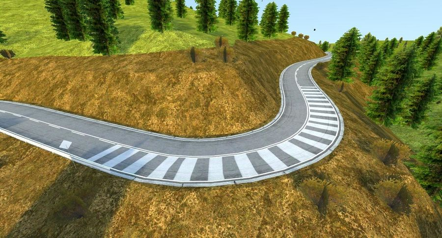 Hill Race Track royalty-free 3d model - Preview no. 15