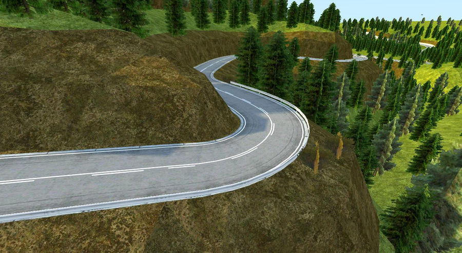 Hill Race Track royalty-free 3d model - Preview no. 4
