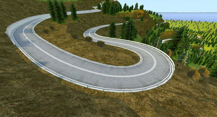 Hill Race Track royalty-free 3d model - Preview no. 7