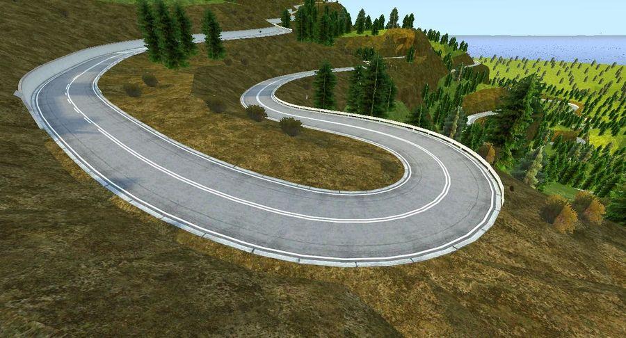 Tepe Yarışı Pisti royalty-free 3d model - Preview no. 7