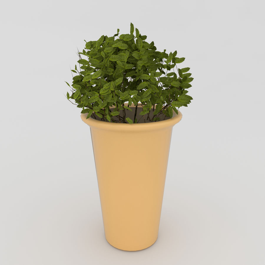 Bahçe mobilyaları ve bitkileri royalty-free 3d model - Preview no. 9