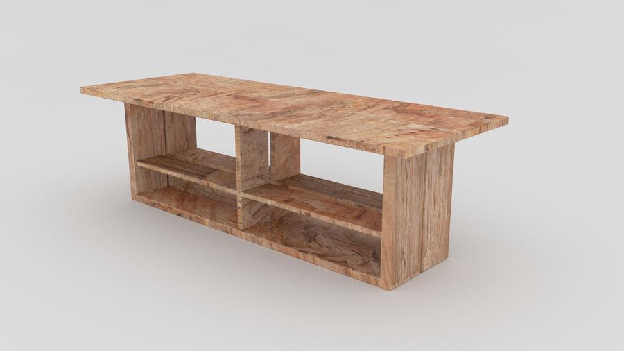 Bahçe mobilyaları ve bitkileri royalty-free 3d model - Preview no. 3