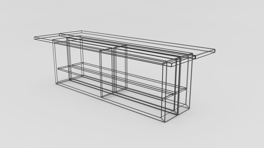 Bahçe mobilyaları ve bitkileri royalty-free 3d model - Preview no. 4