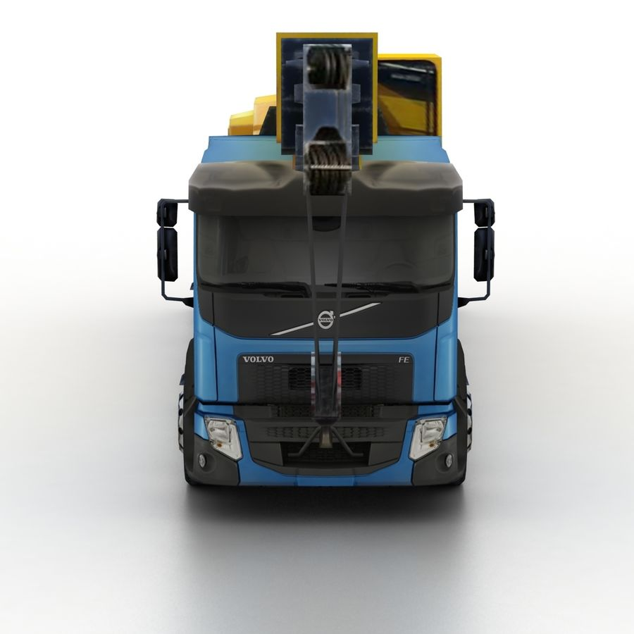 Volvo FE Crane 2013 royalty-free 3d model - Preview no. 4