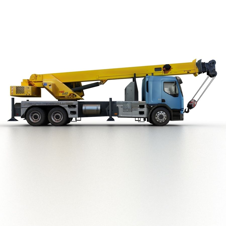 Volvo FE Crane 2013 royalty-free 3d model - Preview no. 3