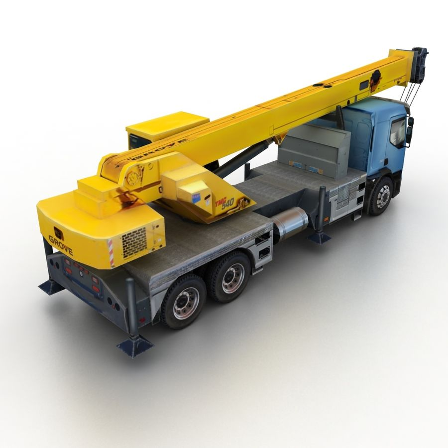 Volvo FE Crane 2013 royalty-free 3d model - Preview no. 2