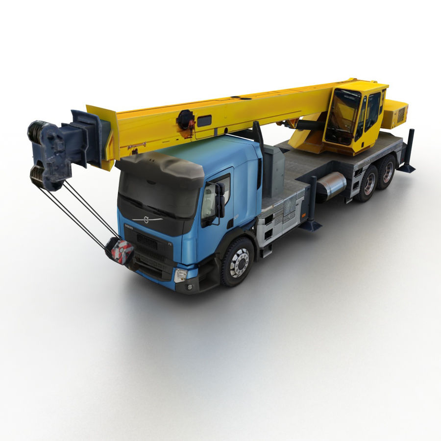 Volvo FE Crane 2013 royalty-free 3d model - Preview no. 1