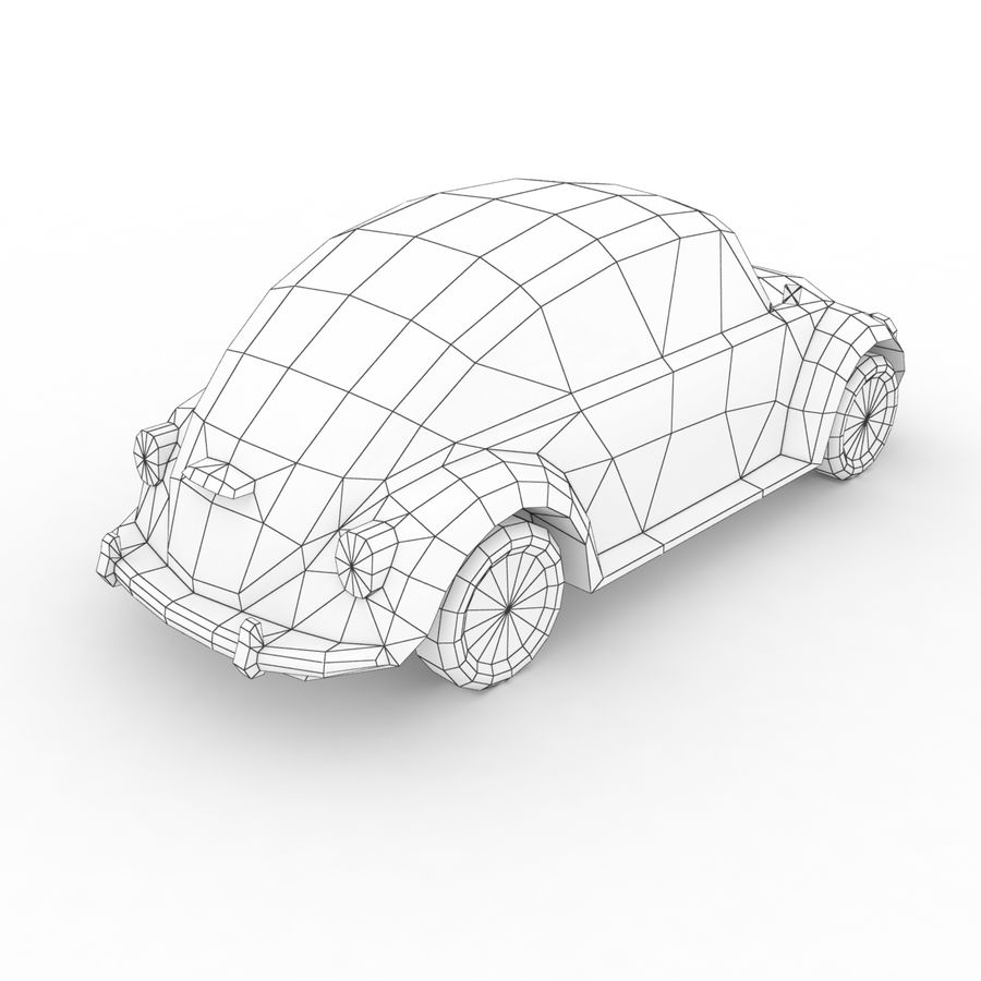 VW Beetle Kafer 1962 royalty-free modelo 3d - Preview no. 8
