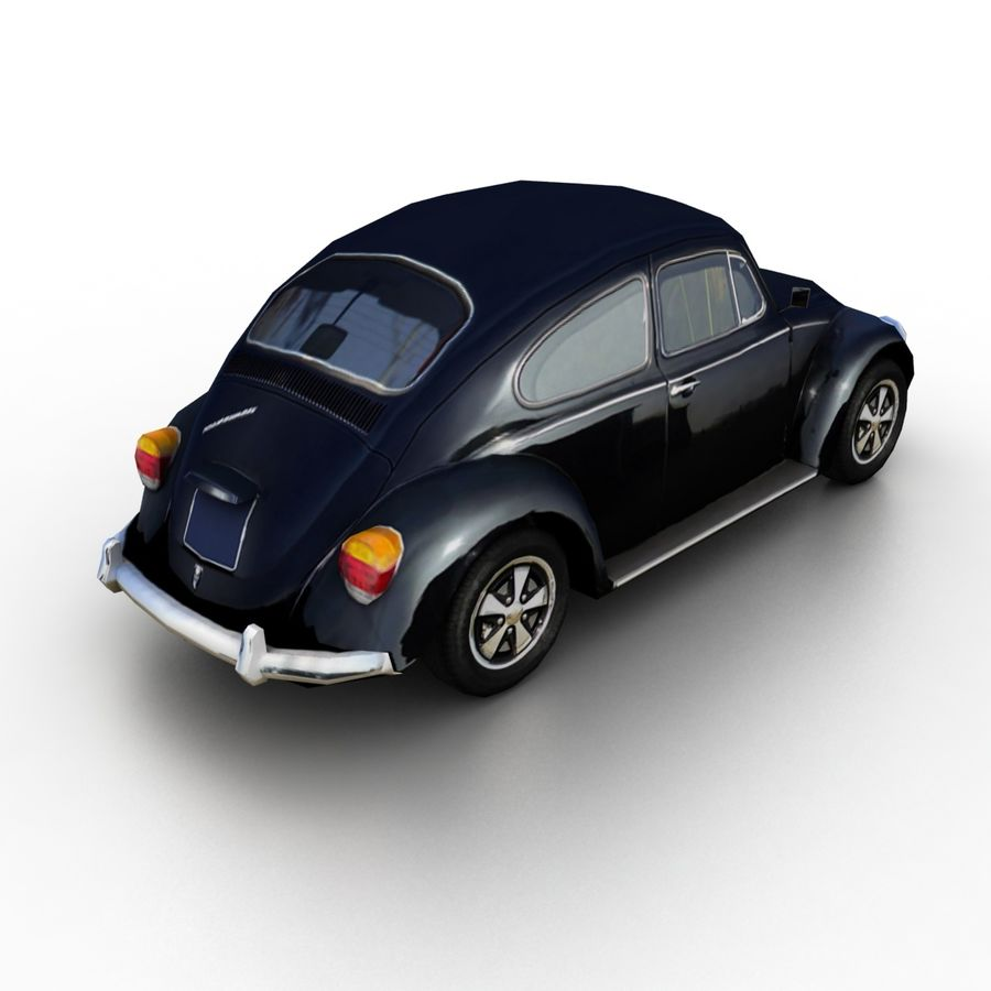 VW Beetle Kafer 1962 royalty-free modelo 3d - Preview no. 2
