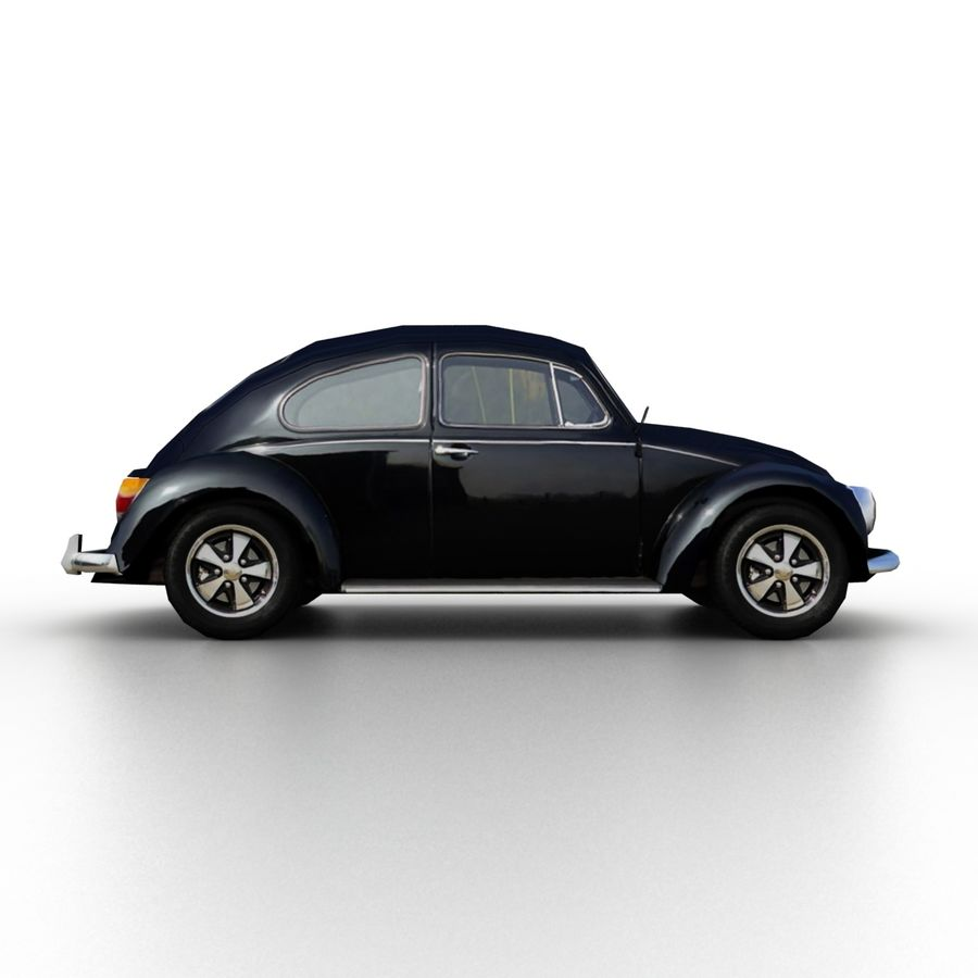 VW Beetle Kafer 1962 royalty-free modelo 3d - Preview no. 3