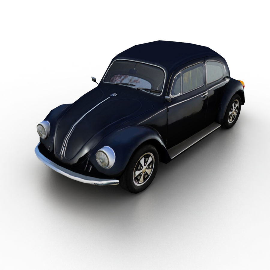 VW Beetle Kafer 1962 royalty-free modelo 3d - Preview no. 1