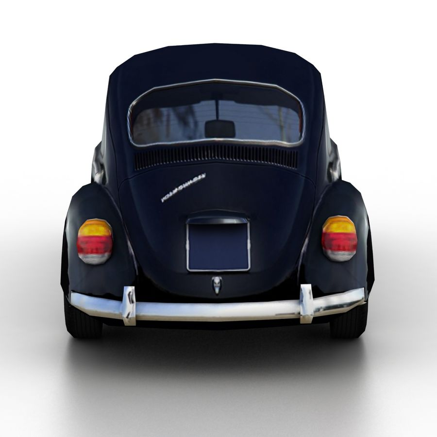 VW Beetle Kafer 1962 royalty-free modelo 3d - Preview no. 5