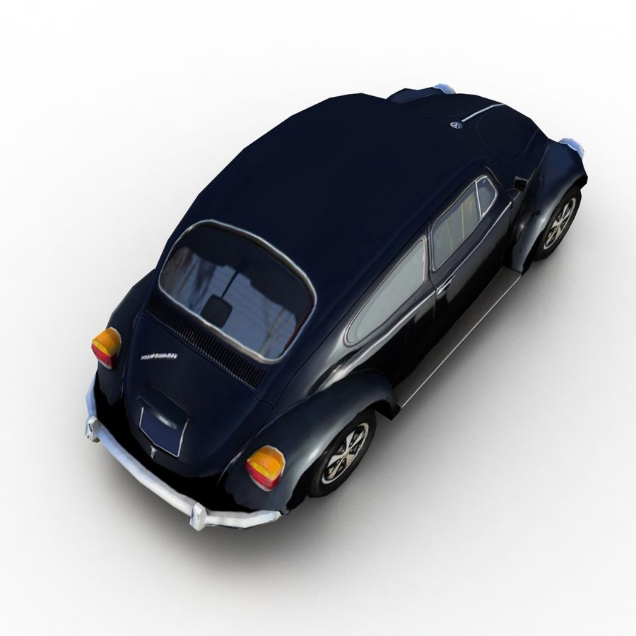 VW Beetle Kafer 1962 royalty-free modelo 3d - Preview no. 6