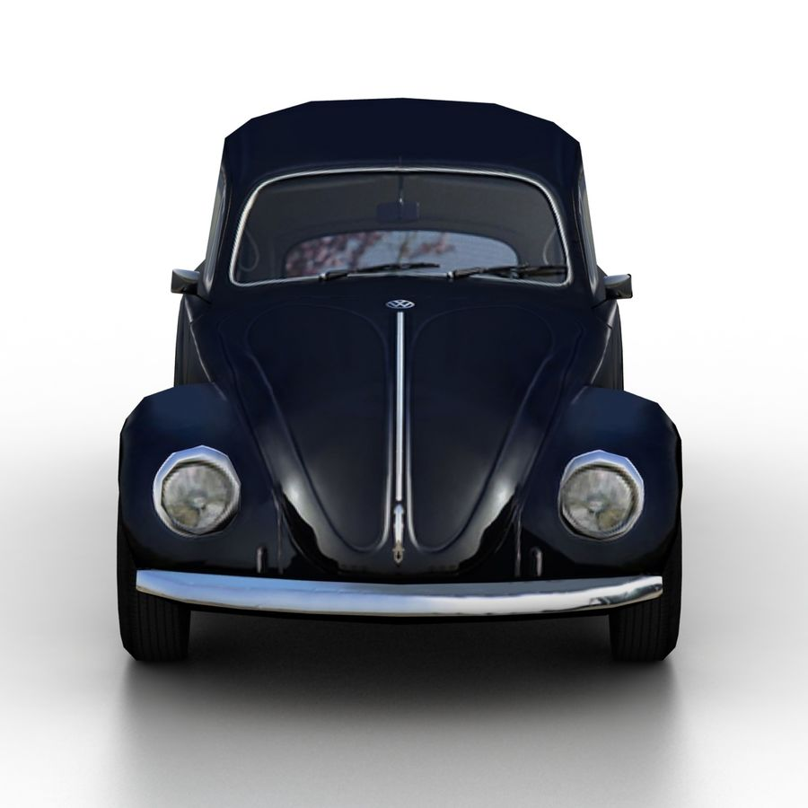 VW Beetle Kafer 1962 royalty-free modelo 3d - Preview no. 4