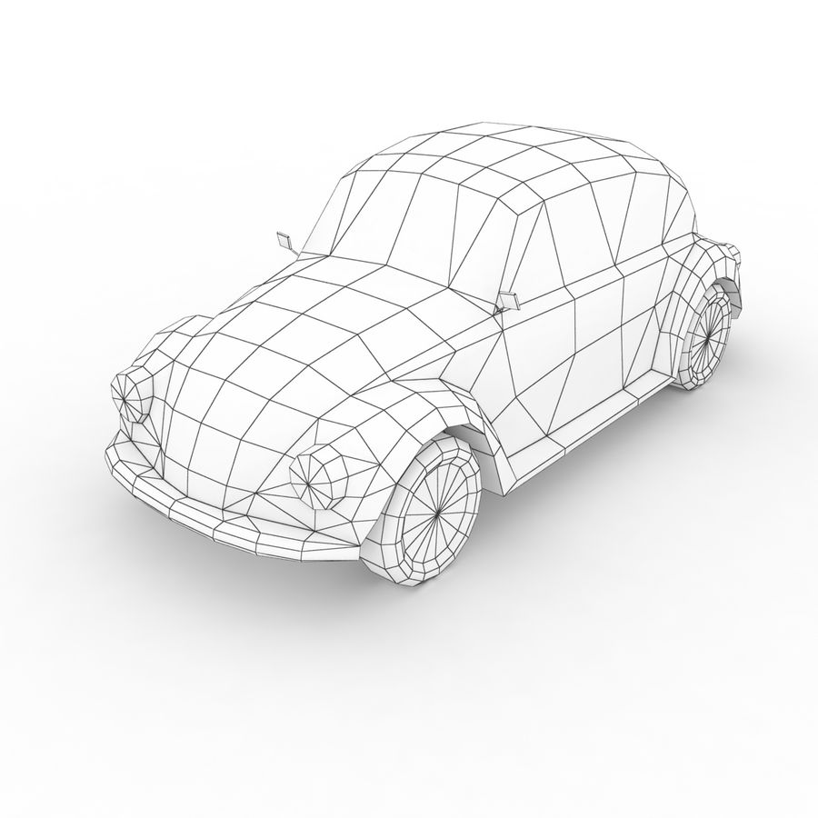 VW Beetle Kafer 1962 royalty-free modelo 3d - Preview no. 7