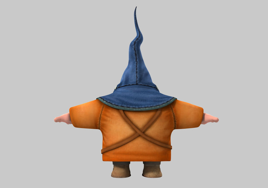 Cartoon_Gnome royalty-free 3d model - Preview no. 4