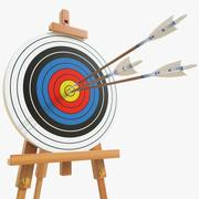 Target with arrows 01 3d model