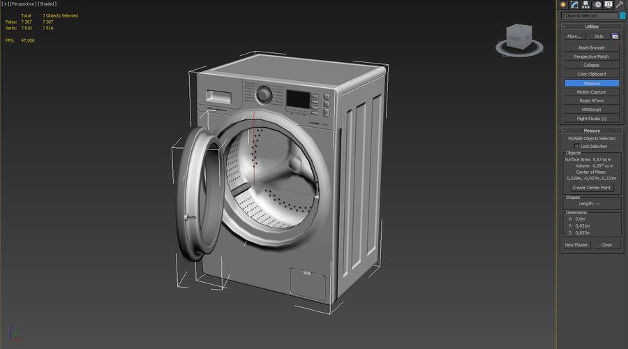 Máquina de lavar roupa Samsung Modelo 3D $29 -  max  obj  fbx - Free3D