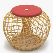 Cane Line Nest Small Footstool 3d model