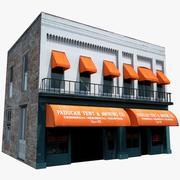 옛 술집 \ bar 스타일 건물 3d model