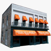 旧サルーンバースタイルの建物 3d model