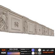 corniche de grenier bâtiment 8K 3d model