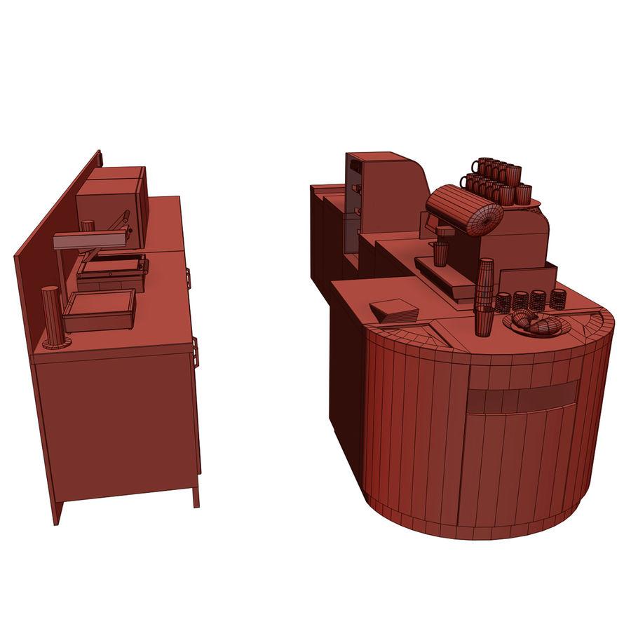 Balcão de lojas de café royalty-free 3d model - Preview no. 9