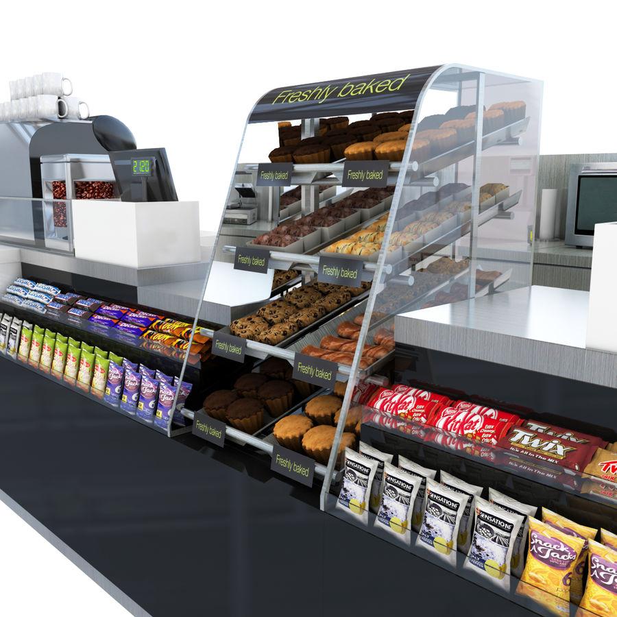 Balcão de lojas de café royalty-free 3d model - Preview no. 4