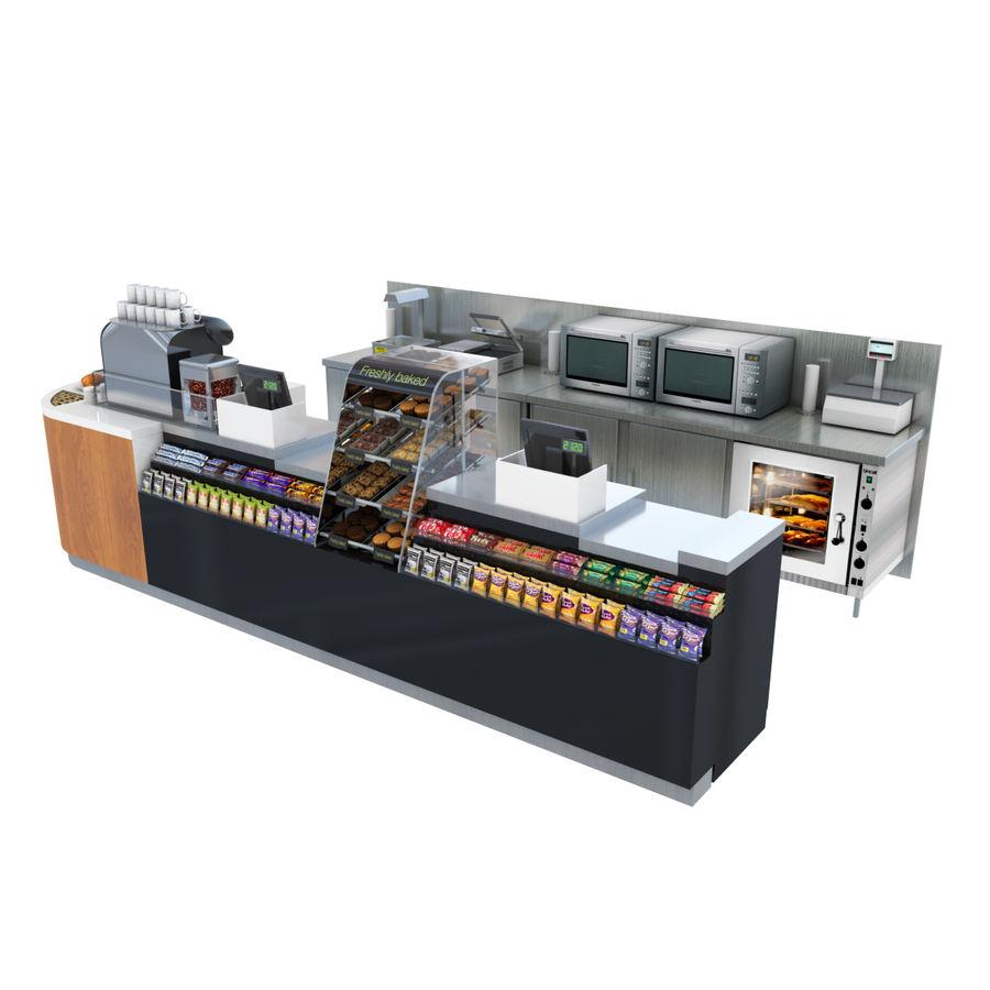 Balcão de lojas de café royalty-free 3d model - Preview no. 3