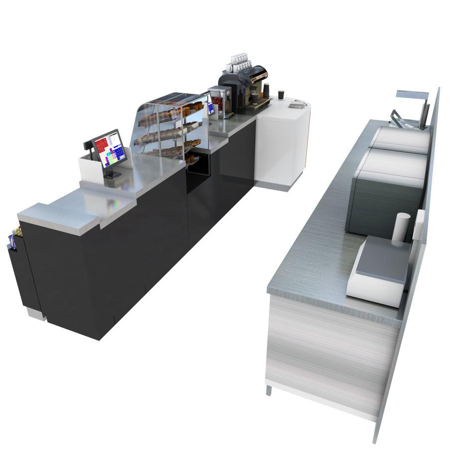 Balcão de lojas de café royalty-free 3d model - Preview no. 5