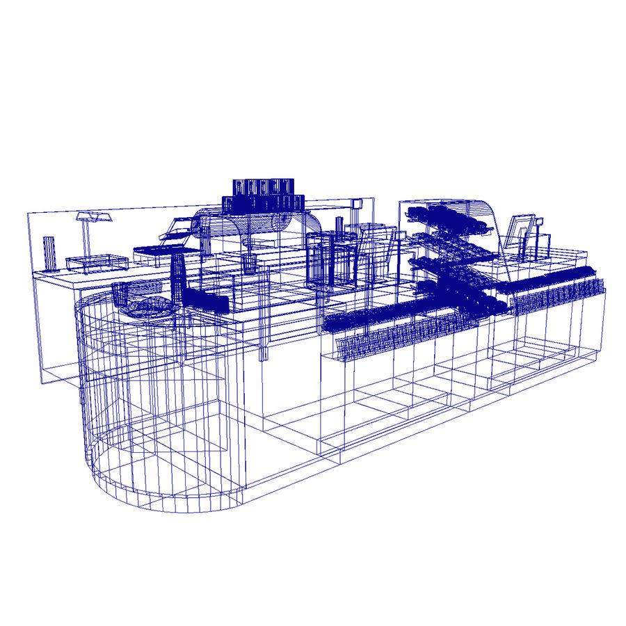 Balcão de lojas de café royalty-free 3d model - Preview no. 13