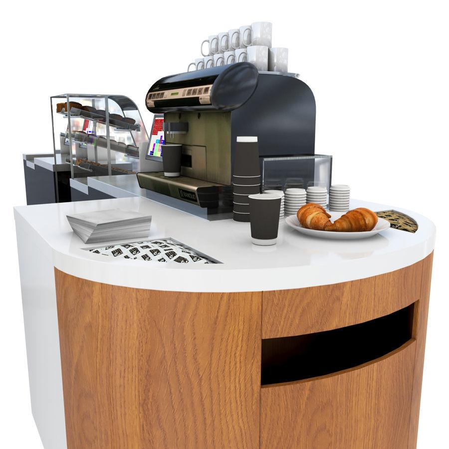 Balcão de lojas de café royalty-free 3d model - Preview no. 2