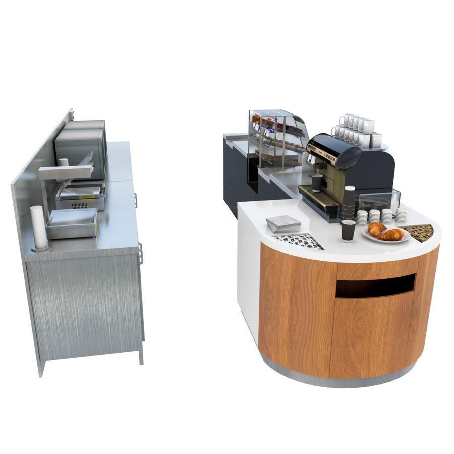 Balcão de lojas de café royalty-free 3d model - Preview no. 6