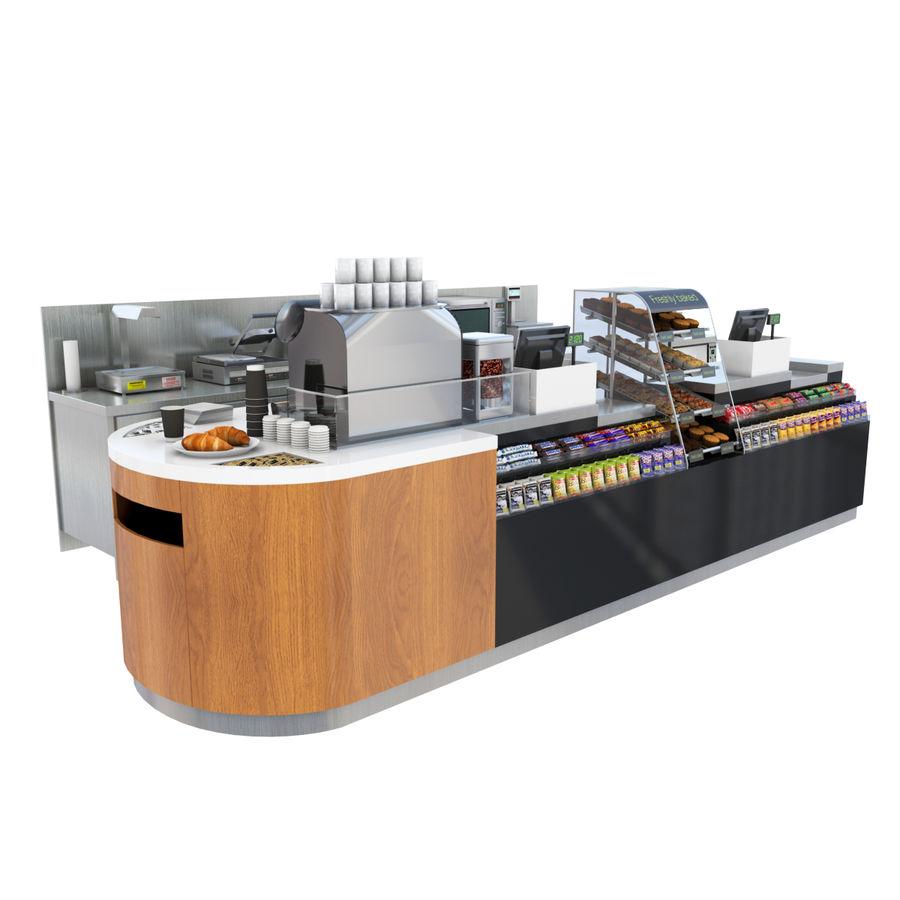 Balcão de lojas de café royalty-free 3d model - Preview no. 1