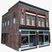 Old Style Residential Building or Store 3d model