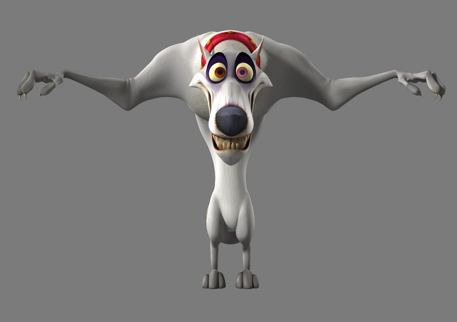 Cartoon Wolf royalty-free 3d model - Preview no. 2