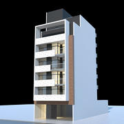 Edifício residencial, 01 3d model