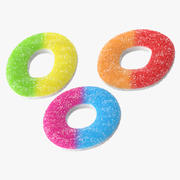 Sugar Gummy Rings 3d model
